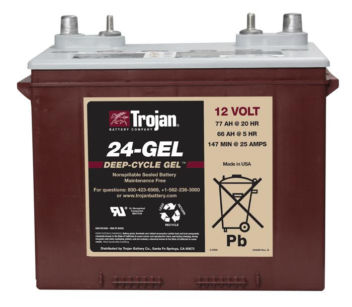 Bater as solares agm de 12v trojan para instalaciones for Baterias de placas solares